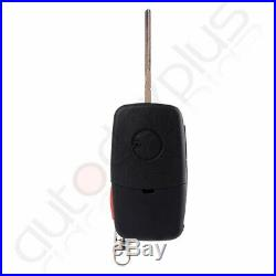 10pcs New 3 Buttons Replacement Keyless Entry Remote Car Flip Key Fob for Audi
