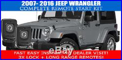 2007 2016 Jeep Wrangler Remote Start Car Starter Plug And Play Fast Install