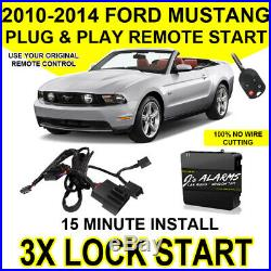 2010-2014 Ford Mustang Plug & Play Remote Car Starter DIY Install 3X Lock FO1A