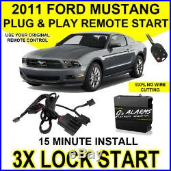 2011 Ford Mustang Plug & Play Remote Car Starter DIY Install 3X Lock FO1A