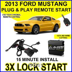 2013 Ford Mustang Plug & Play Remote Car Starter DIY Install 3X Lock FO1A