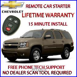 2014 Chevrolet Tahoe remote car starter 100% plug and play 15 minute install