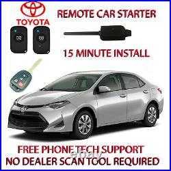 2017-2018 Toyota Corolla Remote Car Starter -no Wire Splicing Regular Key Only