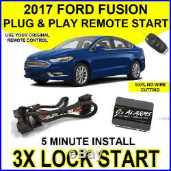 2017 Ford Fusion Remote Start Plug and Play Easy Install Car Starter 3X Lock FO2