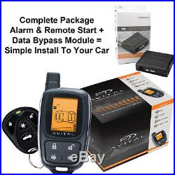 2 Way LCD 5305L Alarm & Remote Car Starter Security System With Bypass Module