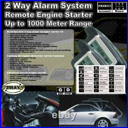 2 Way LCD Car / Truck Alarm Keyless Entry Remote Starter System Security Siren