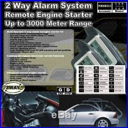 2 Way LCD Pagers Car Alarm System Remote Engine Start Security Siren Anti Theft