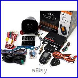 2-Way LCD Remote Auto Car Starter Alarm & Bypass Module for Ford Lincoln Mercury