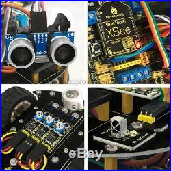 2x Bluetooth Ultrasonic Remote Control DIY Smart Car Robot for Arduino Starter