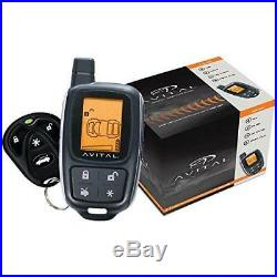 AVITAL 5305L 2-Way Remote-Start and Alarm Car Security System with LCD remote