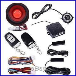 Autos Car Alarm System Keyless Entry & Engine Ignition Push Starter Button Kits