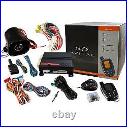 Avital 5305l 2-way LCD Remote With Auto Car Start Starter And Alarm Security Dei