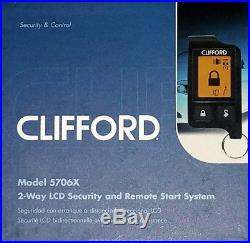 CLIFFORD 5706X LCD 2-Way Security & REMOTE START System Car Starter BRAND NEW