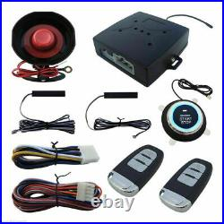 Car Alarm Remote Engine Starter Passive Keyless Entry With Push Button Start