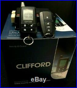 Clifford Car Alarm & Remote Starter 2-Way LCD Remote 5305 X NEW Very Long Range