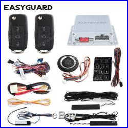 EASYGUARD PKE car alarm remote control push to start button remote starter alarm