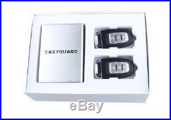 EASYGUARD Smart Keyless entry car alarm system remote engine starter push button