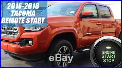 Fits 2016 2018 TOYOTA TACOMA REMOTE START PLUG AND PLAY CAR STARTER