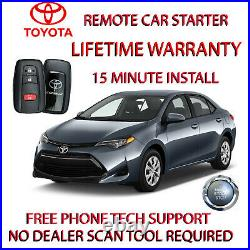Fits 2019 TOYOTA COROLLA REMOTE START PLUG AND PLAY CAR STARTER