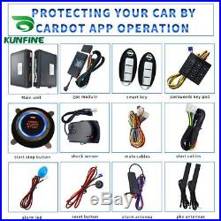 GPS Car Alarm System Passive Keyless Entry Engine Ignition Push Button Remote