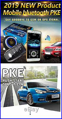 GPS Car Truck Alarm System Passive Keyless Entry Remote Car Starter Push Button