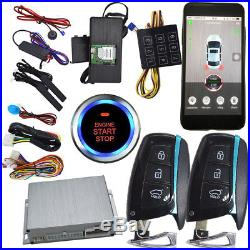 Gsm intelligent car alarm system with remote engine starter smart phone control