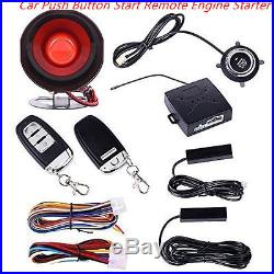 Keyless Entry Car Alarm System With Push Button Start Remote Engine Start Starter