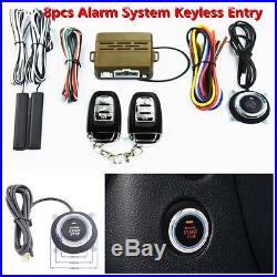 Keyless Entry Car Security Alarm System Push Button Starter Remote Engine Start