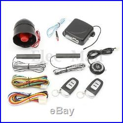Keyless Entry Push Button Start Starter Alarm System + 2 Remote Control for Car