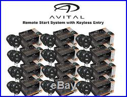 Lot of 12 Avital 4103LX Car Remote Start System Starter with 2 Transmitters ea