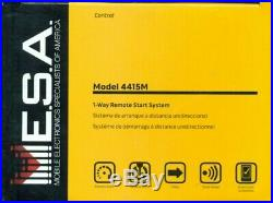MESA MODEL 4415M Remote Car Starter 1-Way TWO 4-Button Remotes Keyless 2017 NEW