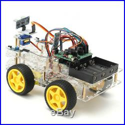 NEW 4WD Programmable Smart Robot Car Starter Kit With Remote Control for Ardui