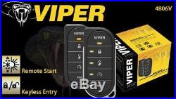 NEW Viper 4806V 2 Way DEL Remote Car Starter With Keyless 1 Mile Range FREE Bypass
