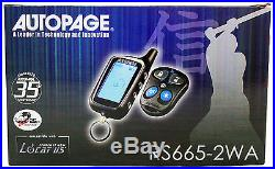 New Autopage RS6652WA 2-way Car Alarm+Remote Start Starter with LCD Pager