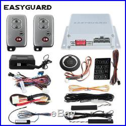 PKE Car Alarm kit with bypass module button Remote Engine Starter Keypad Entry