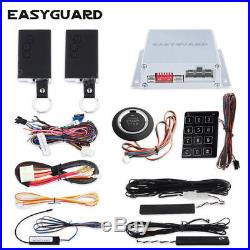 PKE car alarm system Flat remote style remote engine start push button starter