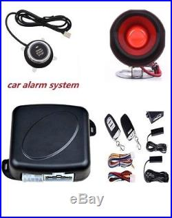 Passive Keyless Entry Car SUV Alarm System With Push Button & Remote Starter Kit