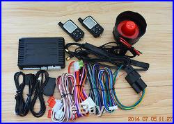 Pke 2 way remote starter car security alarm system with auto central lock