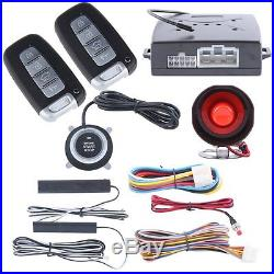 Push button Rolling code car alarm system passive keyless entry remote starter