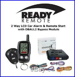 Ready Remote 5303R 2 Way Car Alarm & Remote Starter with DBALL2 Bypass Module