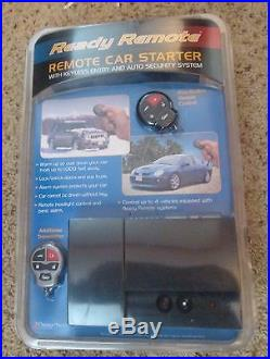 Ready Remote Car Starter With Keyless Entry And Security Alarm New In Package