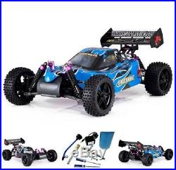 Remote Control Racing RC Buggy Car Toy Gas Powered w Nitro Fuel Starter 1/10 Kit