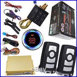 Remote car starter engine with auto passive keyless entry central lock car door