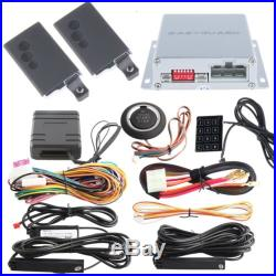 Rolling Code PKE Car Alarm System with Bypass module Remote Engine Starter