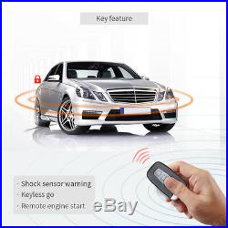 Security car alarm PKE remote engine start off keyless entry push button starter