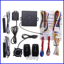 Smart Car Security Keyless Entry Push Start Alarm System Remote Starter Button