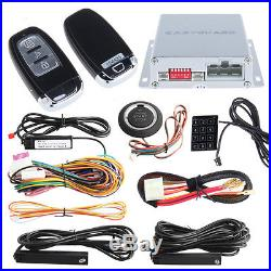 Top PKE Car Alarm System W Push Start Remote Engine Starter Touch Password Entry