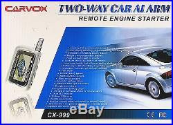 Two Way Car Alarm With Remote Engine Starter Cx-999