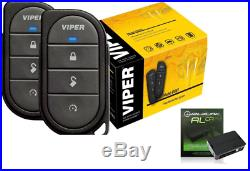 Viper 4105V Remote Car Starter 1-Way TWO 4-Button Remotes Keyless with ADS-AL-CA