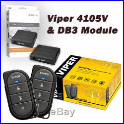 Viper 4105V Remote Car Starter & DB3 Bypass (2) 4-Button Remotes Keyless + Guide